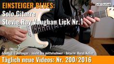 ✪ EINSTEIGER BLUES ►Stevie Ray Vaughan Lick Nr.1
