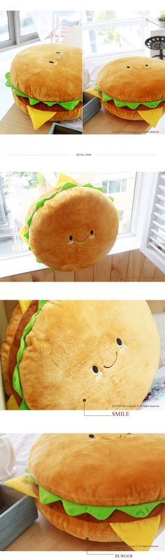 Burger pillow LINK: http://www.ebay.com/itm/PET-PILLOW-VARIOUS-ANIMAL-CUSHION-TOY-FOOD-PLUSH-DOLL-FREE-SHIP-X-MAS-GIFT-/180765854861