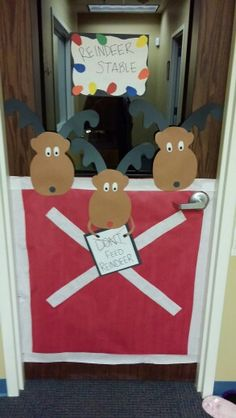 Christmas time door decoration by meee!