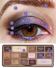 Color placement using Too Faced Chocolate Bar