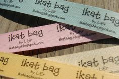 Fabulous idea for making your own bag/clothing labels. With tutorial.