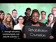 """Understanding Rehabilitation Counseling"" created by NIU rehabilitation counseling students for the American Rehabilitation Counseling Association conference!"