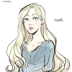 Fleur Delacour by minuiko. Fanart Harry Potter, Mundo Harry Potter, Harry Potter Characters, Harry Potter Books, Harry Potter Fandom, Harry Potter Hogwarts, Harry Potter World, Harry Potter Fleur Delacour, Character Art