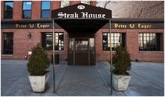 Brooklyn storefront location of Peter Luger Steak House. Supposed to be one of the top 40 restaurants to try.