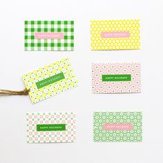 FREE Patterned Holiday Gift Tags » Eat Drink Chic