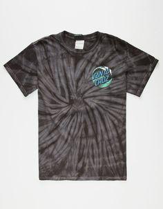 64c54830fc SANTA CRUZ Wave Dot Mens T-Shirt - BLKGR - 271823146
