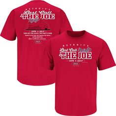 Detroit Red Wings Fans. Last Call At The Joe. T-Shirt be60281fe