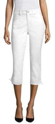 NYDJ Lace-Up Capri Jeans