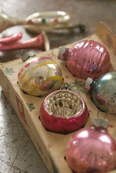 love vintage ornaments