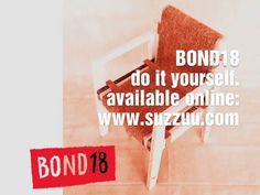 BOND18 is an easily assembled do-it-yourself cardboard-plywood chair in eighteen modular parts www.bennosimma.com