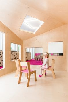 Kindergarden in Chroscice (Poland) designed by PORT | Playhouses - feature colours and soft warm wood