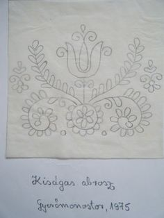 Tambour Embroidery, Hungarian Embroidery, Folk Embroidery, Embroidery Stitches, Hand Embroidery Patterns Free, Stitch Drawing, Pencil Design, Stencil Diy, Embroidered Flowers