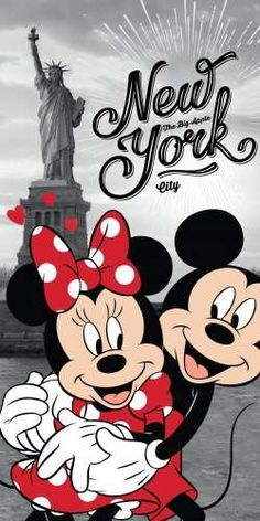 Disney Minnie and Mickey Mouse in New York Bath Towel 70 x 140 cm Arte Do Mickey Mouse, Minnie Mouse Drawing, Mickey Mouse Pictures, Mickey Mouse Tattoos, Minnie Mouse Pictures, Mickey Mouse Christmas, Mickey Mouse And Friends, Disney Mickey Mouse, Mickey Mouse Wallpaper Iphone