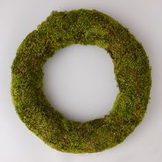 """Soft bunches of preserved clump moss form this woodsy circlet for the home or doorstep.- Preserved clump moss, wreath base- Indoor or sheltered outdoor use- For best longevity, handle gently and avoid direct sunlight or moisture- Imported4""""D, 21"""" diameter"""