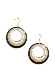 Black Hoop Earrings $12.99 #Accessories