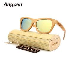 7f0df823d06 Angcen 2017 New fashion Products Men Women Glass Bamboo Sunglasses au Retro  Vintage Wood Lens Wooden
