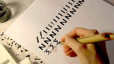 Tutorial for Greek Uncial script. Free to shar eon social media. Ancient Calligraphy: Greek Uncial ca. 350 AD