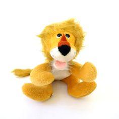 Rare Animal Fair Rufus The Lion Plush Toy 60s / Retro Baby Gift, Vintage Nursery, Circus Theme Party Decor by AttysSproutVintage on Etsy