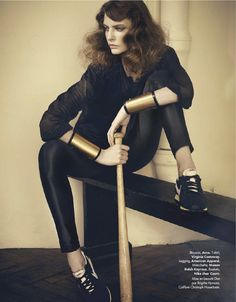 Punchy Chic | Auguste Abeliunaite | Nicolas Valois #photography | Elle France N°3469 28th June 2012