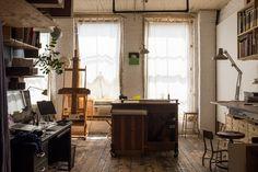 Studio tour with artist and illustrator Oliver Jeffers for Design*Sponge.