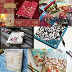 Fabric Book Cover Tutorials - 6 of the best