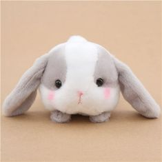 kawaii white and grey bunny rabbit Poteusa Loppy plush toy from Japan 1