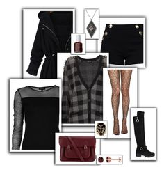 """""""Set 130"""" by m-spirations ❤ liked on Polyvore featuring Boutique Moschino, Topshop, Jonathan Aston, The Cambridge Satchel Company, Rosantica, Essie and Laura Ashley"""