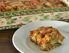 Yummy Breakfast Casserole. Minus the bread to make it low carb ~