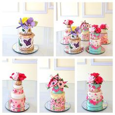 Colorful Tea Time Cakes