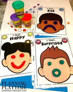 Looking for fun All About Me Activities for kids? Check out these 16 Hands-On All About me Learning Activities and Crafts for Preschool or Kindergarten. Emotions Preschool, Teaching Emotions, Feelings And Emotions, Preschool Learning, Kindergarten Activities, Toddler Activities, Toddler Learning, Learning Activities, Preschool Activities