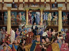 """""""All the Worlds a Stage"""" by James Christensen. I love trying to figure out which plays are represented. I can spend hours studying James Christensen art."""