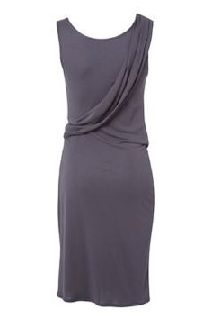 Kookai Viscose jersey grecian inspired draped dress Grey
