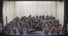 Concierto 1: Santa Cruz - Tchaikovsky. Orquesta Filarmónica de Santiago. Solista: Kotaro Fukuma (piano). Director musical: Konstantin Chudovsky. Foto: Patricio Melo.