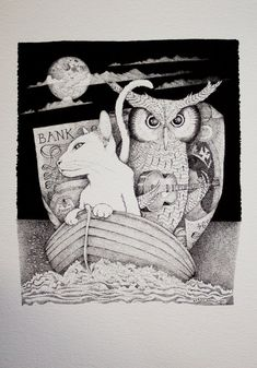 """""""The Owl and Pussycat"""" by Edward Lear and illustrated by Barney Bodoano"""