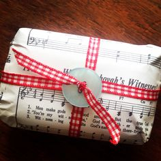 Soap wrapped in songbook paper (photocopied). International convention gifts.