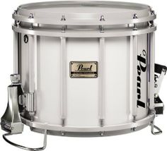 Pearl Championship Snare Drum Pure White 14x12 by Pearl. $459.99. In addition to the totally free-floating lugs, strainer and mounting bracket (sold separately), this snare features a lightning strainer, 12 tuning posts, 14 individually adjustable gut snares, 6 acoustically located air vents, rod and snare guards, and quick-release snares.