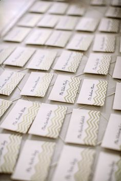 Chevron Striped Place Cards | photography by http://lovemedophotography.com