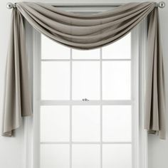 window scarf...over Waterfall valance...alone for back kitchen windows