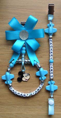 Baby boy pram charm and dummy clip Kids Jewelry, Jewelry Making, Pram Charms, Pom Pom Baby, Baby Cupcake, Beaded Jewelry, Jewellery, Braids With Beads, Dummy Clips