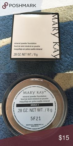 MK mineral powder foundation-bronze 3 This mineral foundation feels light on skin, but gives you buildable natural coverage. Brand new in bronze 3. Mary Kay Makeup Face Powder