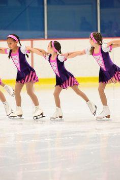 Team Ashburn- Beginner 1 looks great in their pirate inspired dresses!  Freida B* Figure Skating Apparel