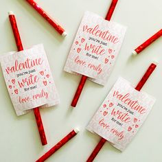 JUST WRITE KIDS' VALENTINES by Peony Hill Press. Just Write Kids' Valentines are the perfect card for handing out during your child's class or club/team. Add a fun pencil or other writing accessory to make the perfect heart day card for them.  #peonyhillpress #valentine #kids #pencil #pen #crayon  #personalized #custom