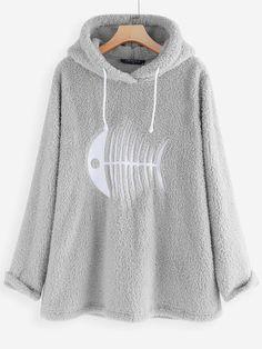 Gracila Сasual Fish-bone Hooded Long Sleeve Fleece Sweatshirt can show the feminine elegance well, get best women Hoodies & Sweatshirts online. Robes Vintage, Plain Hoodies, Laos People, Winter Springs, Republic Of The Congo, Dame, Fashion Outfits, Sweatshirts, Long Sleeve