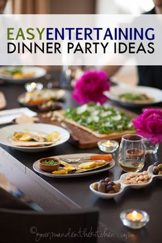 Make entertaining easy and stress-free with these wonderful dinner party ideas that lays out tips, tricks, and a timeline to help make hosting a smashing success!