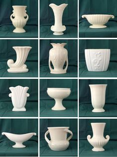 Vintage White Pottery, This stunning gallery focuses on portraits of vintage white pottery.  The mix of sizes and patterns makes a stunning display.  This blog has loads of great vintage collections, and lots of my favorite vintage pottery. ~ I Love Collecting: WHITE!