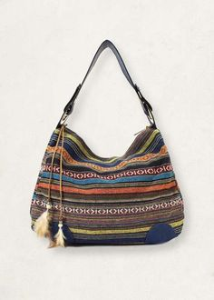 Scarleton Striped Jacquard Hobo Bohemian Bag