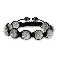 Shamballa Style Sparkling 12 mm White Austrian Crystal Bracelet - got mine from #LiquidationChannel for less than $12. LOVE IT!