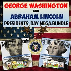 George Washington and Abraham Lincoln Presidents' Day Mega Bundle