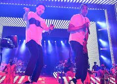 Justin Timberlake in concert with Jay-Z at the Legends of the Summer Tour
