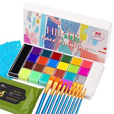 """Amazon has the HIPTIS26ColorsFaceBodyPaintKit, Halloween Face Paint Kitwith6GlowColors LargeWhiteBlack Pan Face PaintingKitsforKidsand Adults Face Paint for SFXMake-up Palette Cosplay and Parties marked down from $26.99 to $8.79. That is $18.20 off retail price! TO GET THIS DEAL: GO HERE to go to the product page and click on """"Add to Cart"""" Enter code MUZYKZBQat checkout&#"""